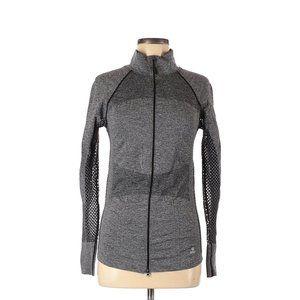 Soho Sport Gray Heathered Zip Up Workout Jacket M